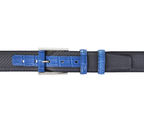 Blu Crocodile&Carbon Fiber Belt