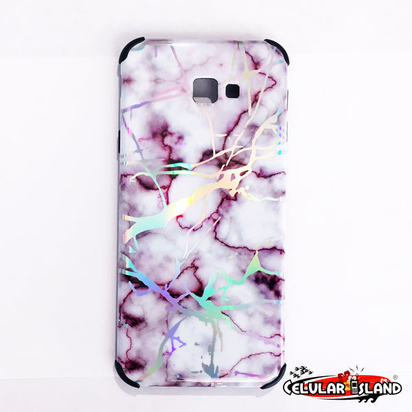 MARBLE CASE COLOR GRIS CON VINO GALAXY J4 PLUS