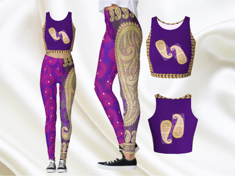 Purple mango yoga or gym crop top fro artikrti1