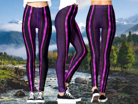 dance stripe leggings yoga active wear gym artikrti1