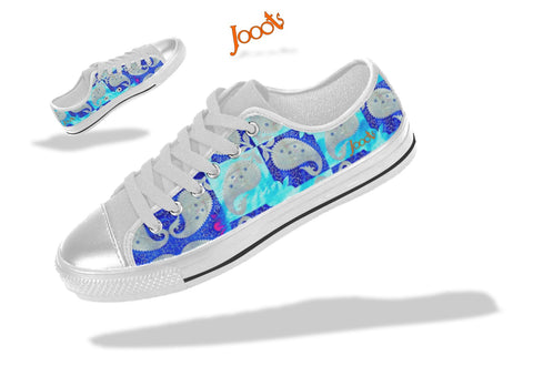 Low tops for college girls. Keds turquoise blue. Indian design. Mango Mosaic . Jooots from Artikrti