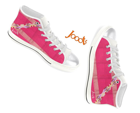 "Girls keds. Cool sneakers with ethnic Indian design. Purple, Pink, Blue. ""Anklet Series1"". Jooots from Artikrti"