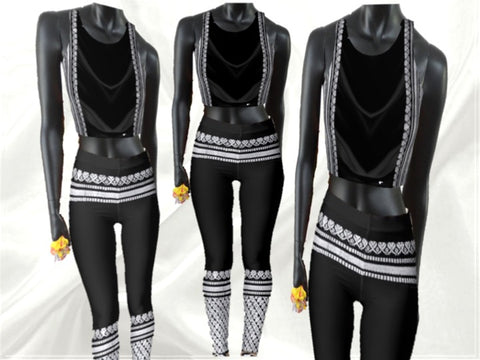 Black crop top for yoga gym dance street. Rajanigandha by Artikrti1