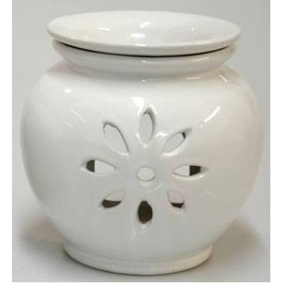 White Ceramic 'Starflower' Oil Burner