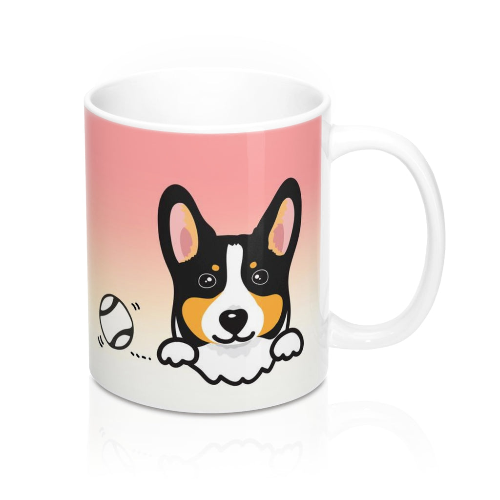 "Mug ""My Cup Of Tea"" Black headed Tri Corgi"