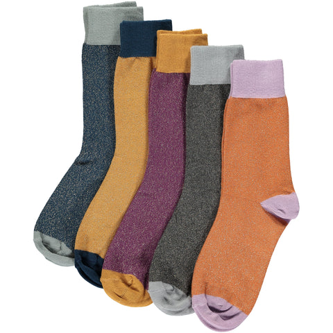 Sparkle Everyday Collection - Women's Cotton Ankle Sock 5 Pack - SAVE 20%