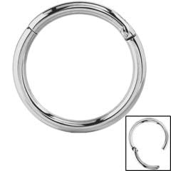 Mirror finish highly polished titanium hinged segment ring 1.2mm x 8mm & 10mm