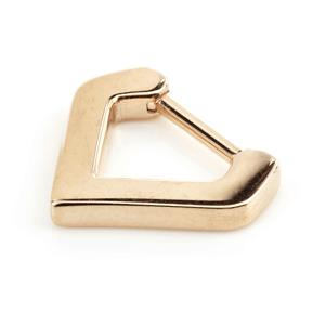 Rose gold PVD steel 1.2mm x 6mm or 8mm plain smooth inverted triangle V shape septum clicker