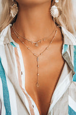 Under the Palms Layered Lariat Necklace
