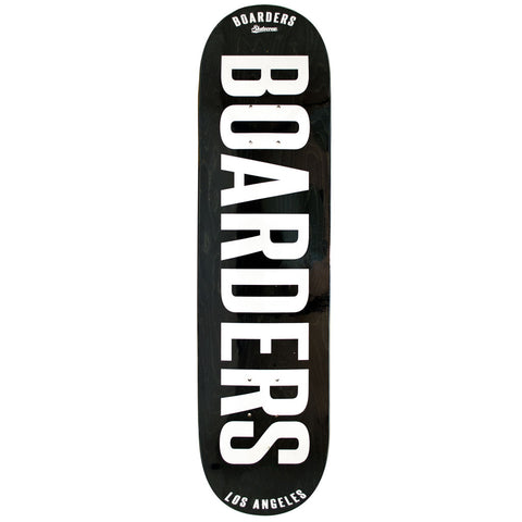 Boarders Bold Black Skateboard Deck