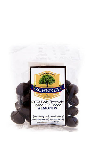 4oz Extra Dark Chocolate Toffee Almonds