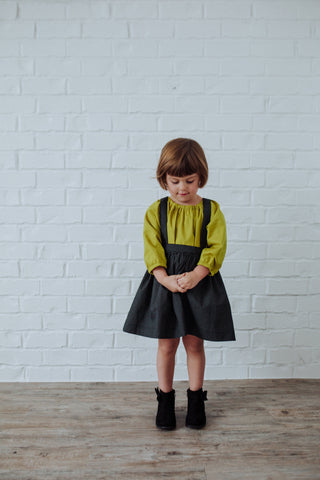 The Andi MINI Trouser Skirt- Black With Tiny White Polka Dots