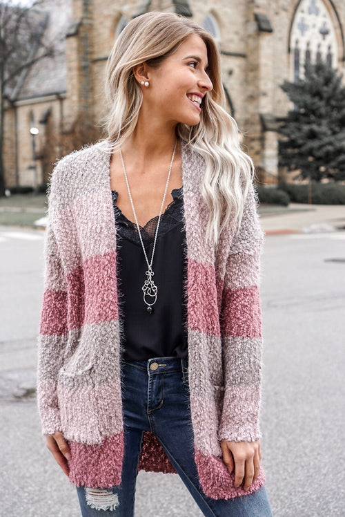 Mauve Multicolored Cardigan