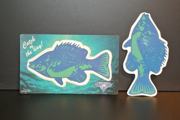 """Catch of the Day"" Crappie Fish Fridge Magnet"