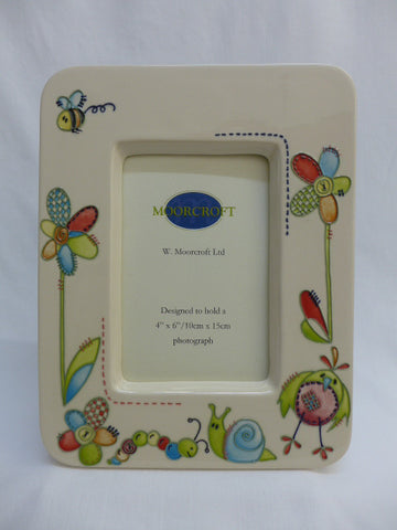 Moorcroft Pottery 'Stitch in Time' 6x4 Photo Frame