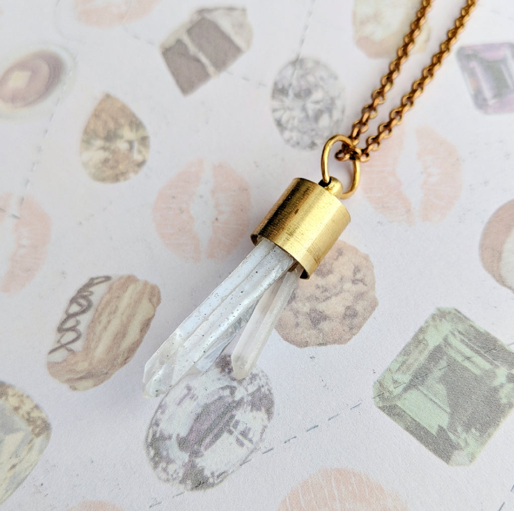 Quartz Cluster Necklace