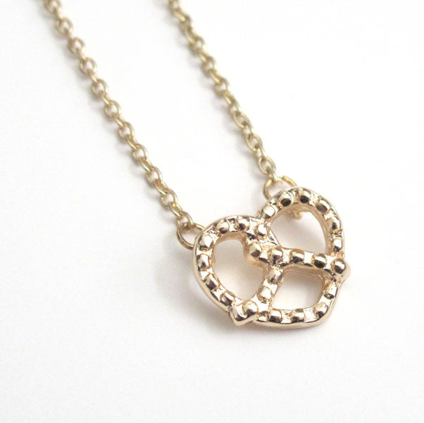 Tiny Pretzel Necklace