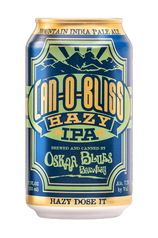 OSKAR BLUES BREWERY CAN-O-BLISS MOUNTAIN IPA HAZY IPA 16oz can