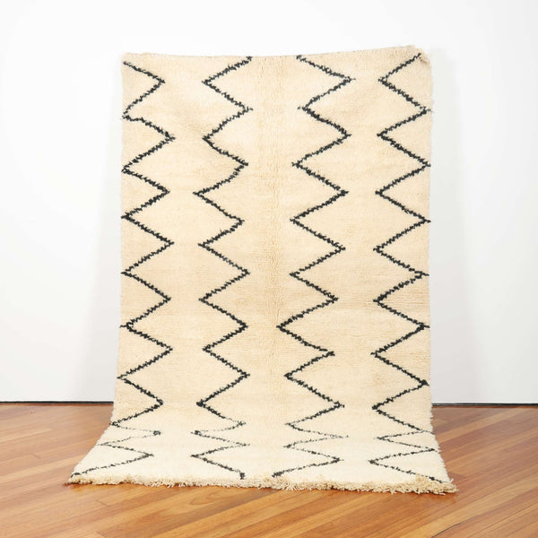 """Leilah Likes to chevron"" Beni Ourain - Ziri Collection (2m x 1.5 metres)"
