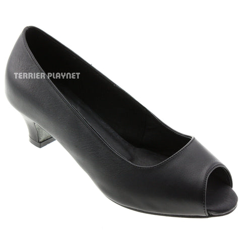 High Quality Black Leather Women Dance Shoes D531