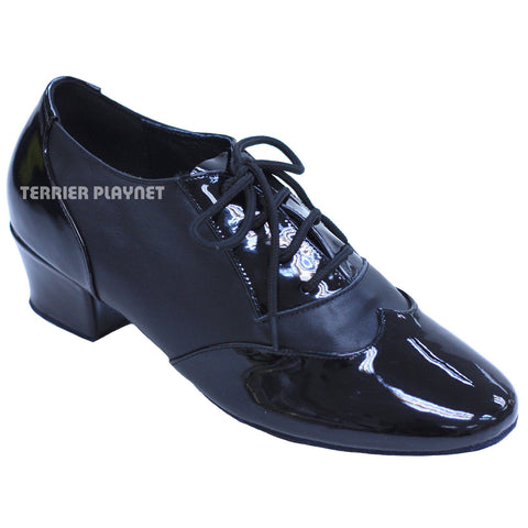 High Quality Black Leather Women Dance Shoes D839
