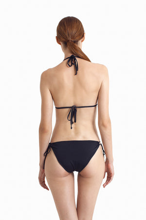Bora Bora String Bottom -  Black - August Society  - 4