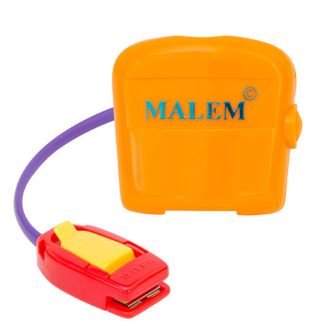 MO3 Orange Malem Wearable Enuresis Bedwetting Alarm front with clip