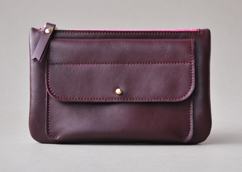 Pochette cartouche - Atelier St. Loup - Luxury leather goods in Nantes