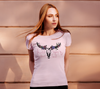 """Wild Heart Gypsy Soul"" Women's Pink Slim-Fit T-Shirt"