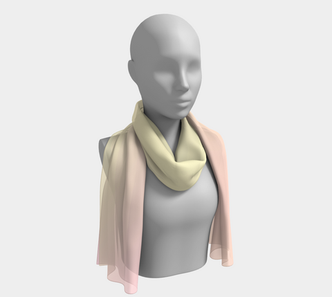 Rainbow Pastels #1 Long Scarf