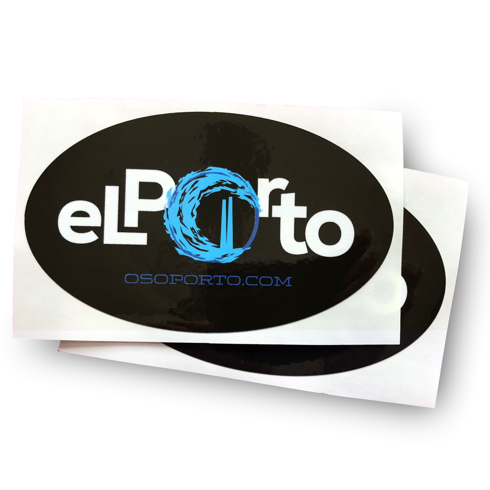 El Porto Oval sticker - pack of 2