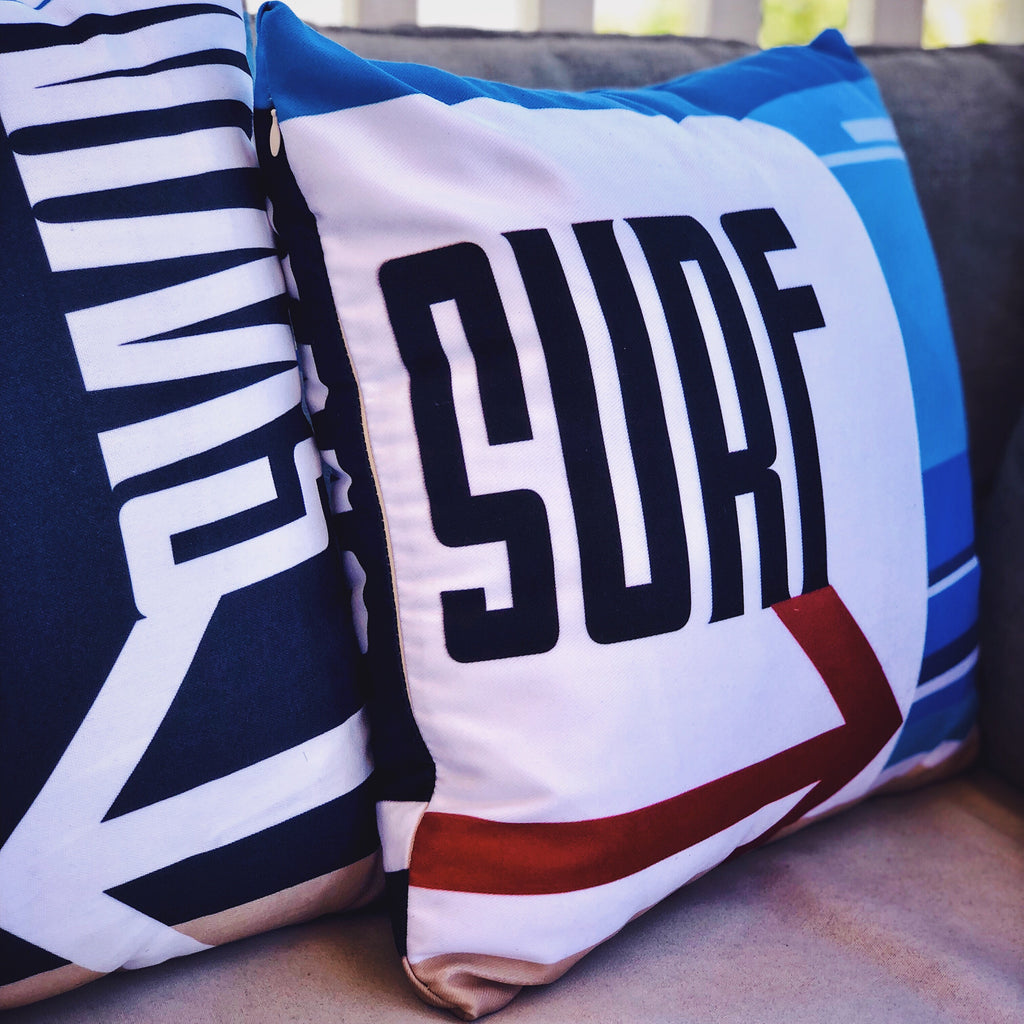 Swim or Surf pillow