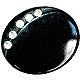 Button Black / Oval / Diamantes / Shiny