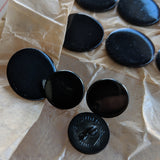 Black Blazer Button / Shiny / Vintage