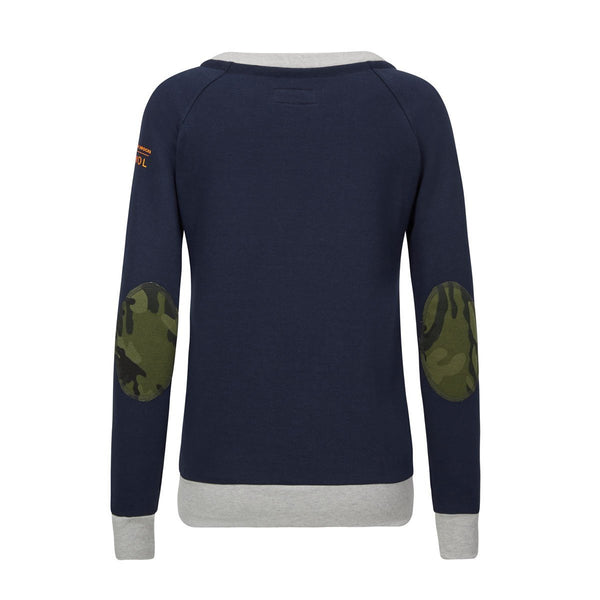 AWOL - Navy with grey and Green Camo sweatshirt - Annabel Brocks