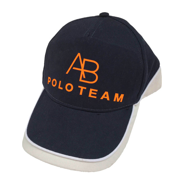 AB POLO navy baseball cap with neon orange - Annabel Brocks
