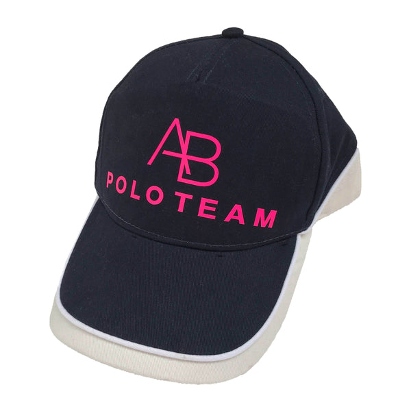 AB POLO navy baseball cap with neon pink - Annabel Brocks