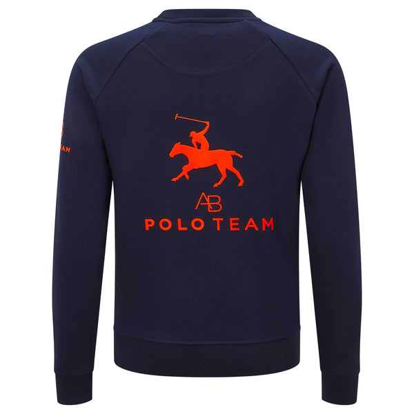 AB Polo sweatshirt - navy with neon orange - Annabel Brocks