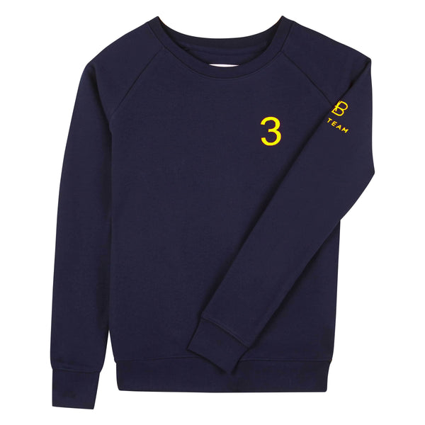 AB Polo sweatshirt - navy with neon yellow - Annabel Brocks
