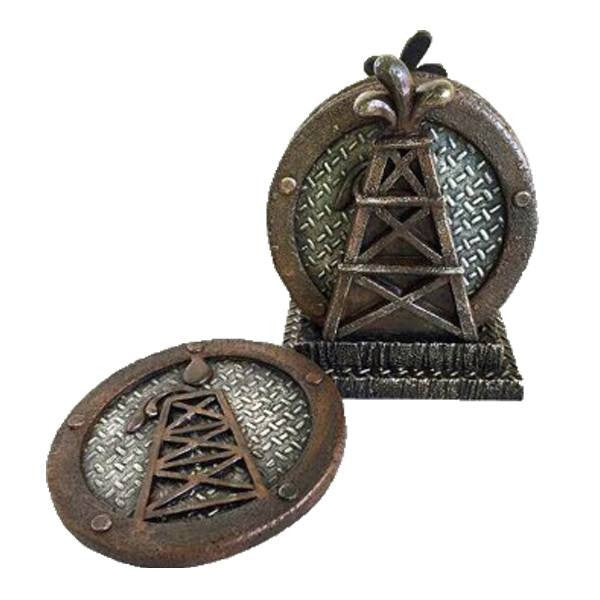 Home Decor - Oil Derrick Coaster Set