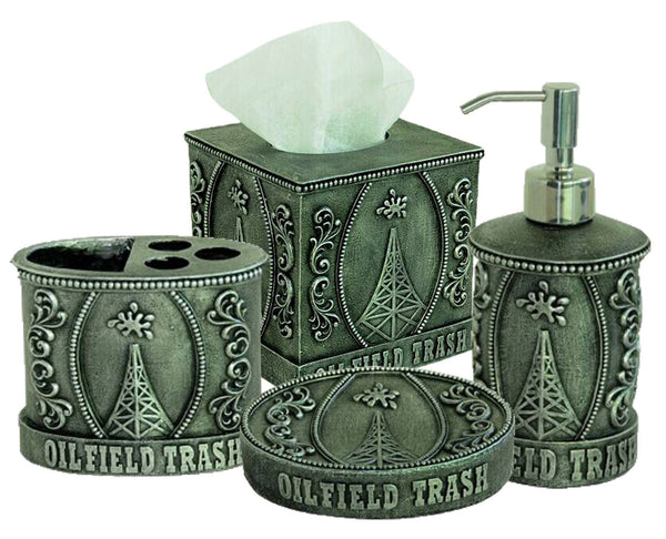 Home Decor - Oilfield Trash Bathroom Set