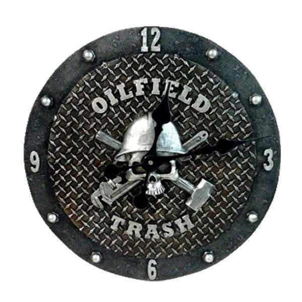 "Home Decor - ""OILFIELD TRASH"" Wall Clock"