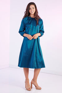 Silk Pastel Dress, Teal
