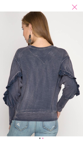 Mineral Ruffled Top
