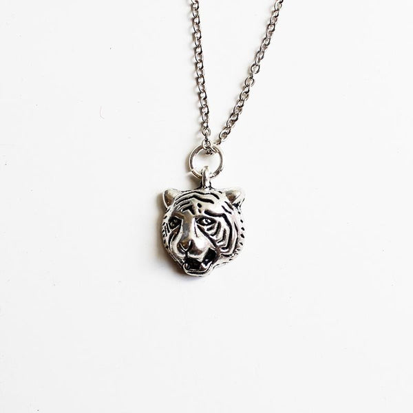 Shorties Bling Necklace - Tiger Face
