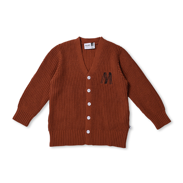 Minti Chunky Knit Cardi - Burnt Orange