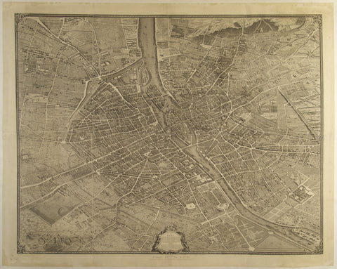 Map of 1730s Paris