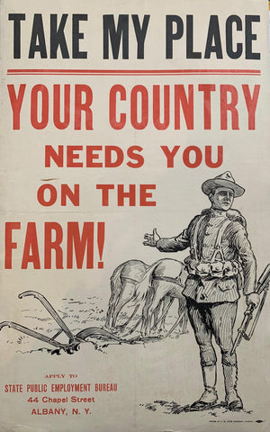 Take My Place, your Country Needs you on the Farm!