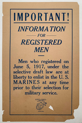 Important! Information for Registered Men