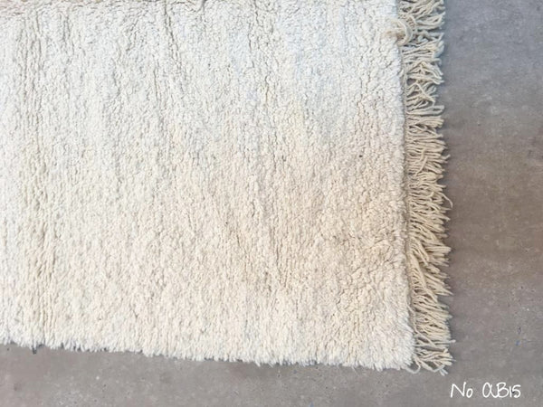 SUPER SALE 🤩 Beni Ourain Carpet - 265x163cm - AZZA - Natural Wool - AB15 - Rare
